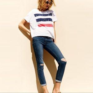 PAIGE Denim Skyline Crop Jeans (Alby Destructed)